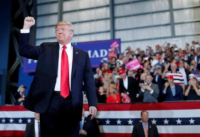 Tổng thống Trump đã tích cực vận động cho đảng Cộng hòa trước cuộc bầu cử giữa kỳ. (Ảnh: Reuters)
