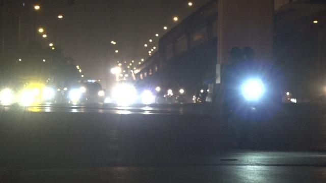 Nhiều tài xế sử dụng đèn pha ngay trong thành phố.