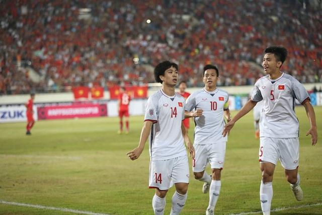 Công Phượng đã có được bàn thắng đầu tiên cho đội tuyển Việt Nam tại AFF Cup 2018