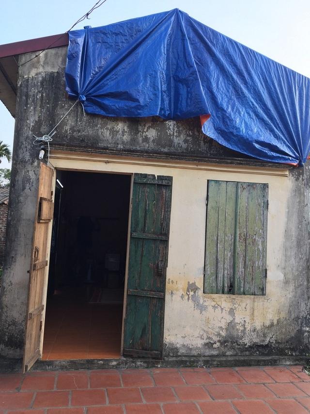Căn nhà đơn sơ của gia đình Thảo.