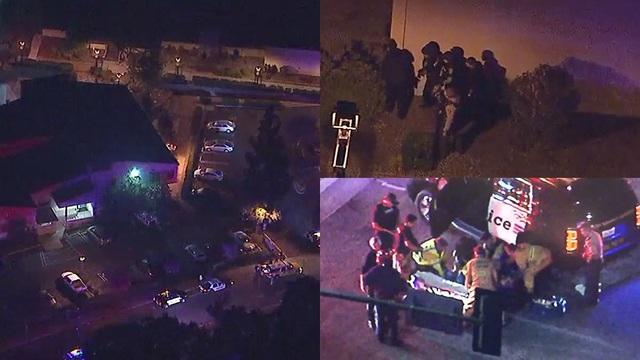 Hiện trường vụ xả súng vào quán bar tại California ngày 7/11. (Ảnh: RT)