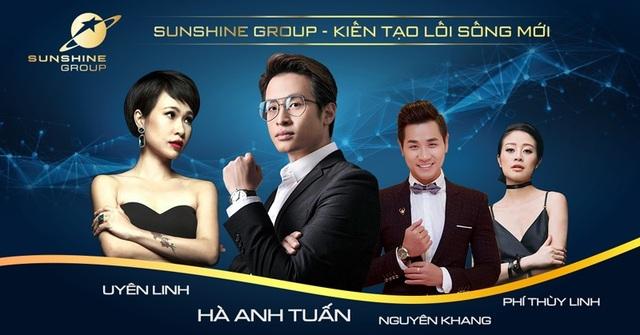 Những nghệ sĩ nổi tiếng sẽ tham gia trong đêm ra mắt của Sunshine Group tại Sài Gòn: Ca sĩ Uyên Linh, Hà Anh Tuấn, MC Nguyên Khang, MC Phí Thùy Linh,...