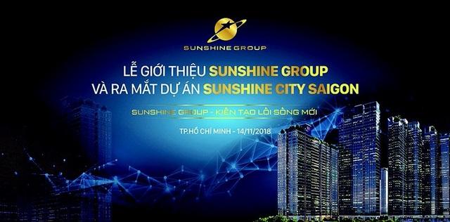 Sự kiện ra mắt của Sunshine Group tại Sài Gòn sẽ diễn ra vào ngày 14/11 tới tại Gem Center (Tp.HCM)