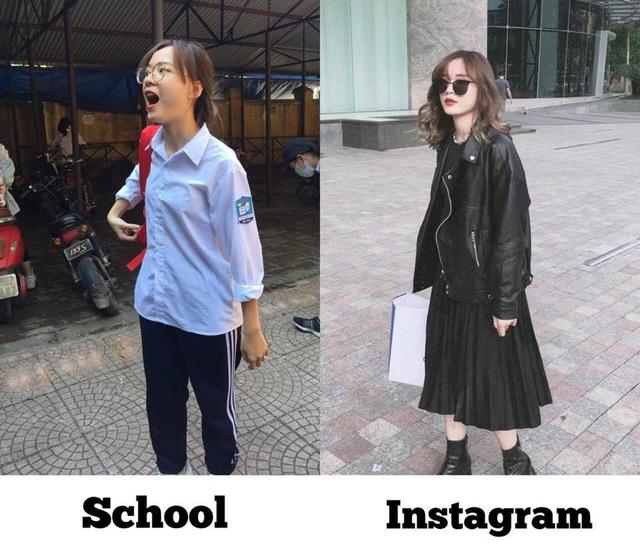 Cùng một góc chụp, chỉ thay đổi trang phục và biểu cảm Ngọc Minh đã hóa fashionista