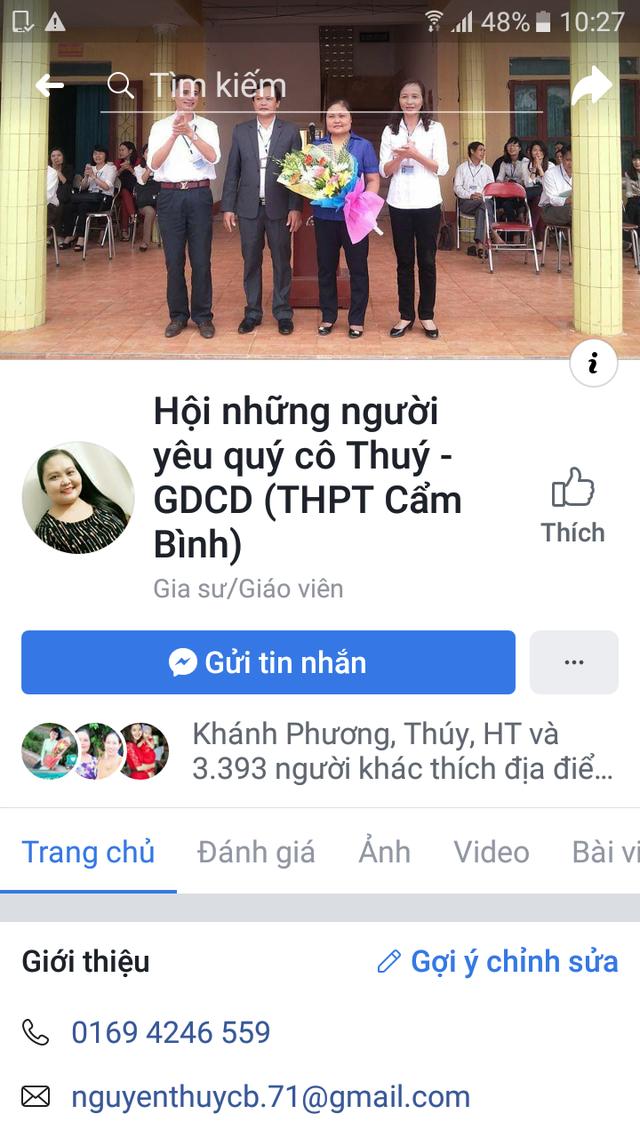 Fanpage của cô Thúy có gần 4.000 lượt yêu thích.
