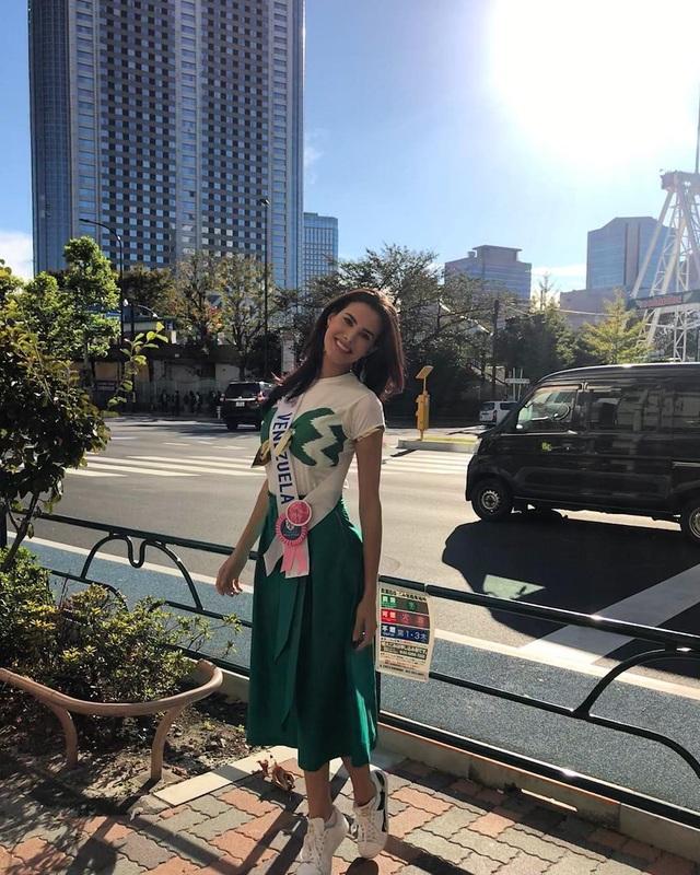 Hoa hậu Venezuela Mariem Velazco đã có những ngày đáng nhớ tại Nhật Bản