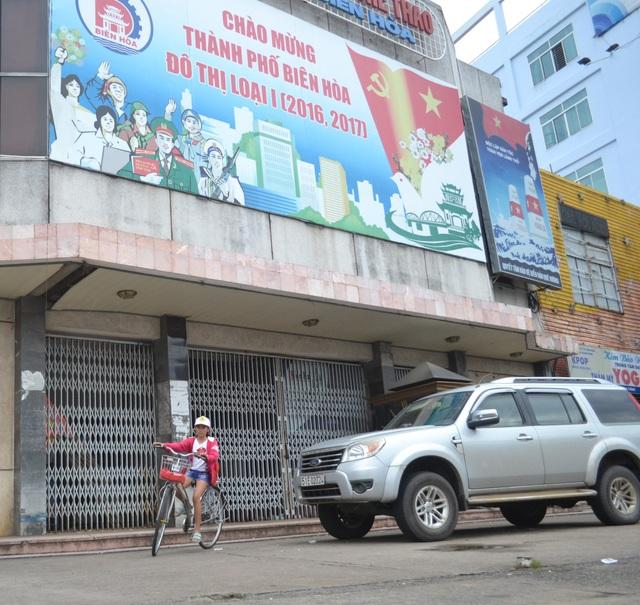 """Rạp hát Nam Hà - """"đất vàng"""" nằm ở mặt tiền đường Hà Huy Giáp và Hưng Đạo Vương, TP Biên Hòa, sẽ được tiến hành đấu giá."""