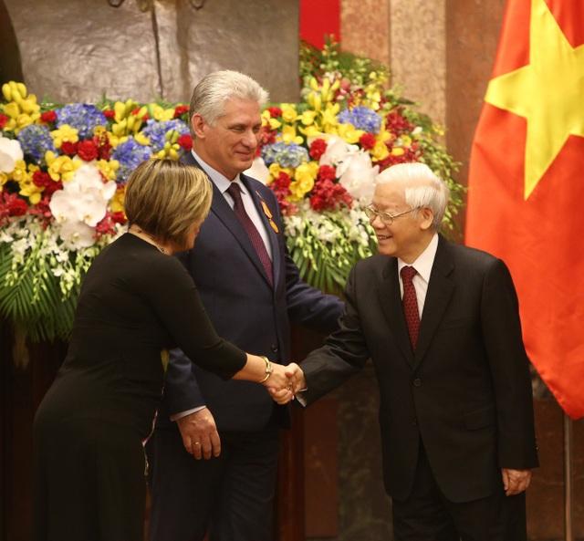 Tổng Bí thư, Chủ tịch nước Nguyễn Phú Trọng chủ trì lễ đón lãnh đạo Cuba - 7