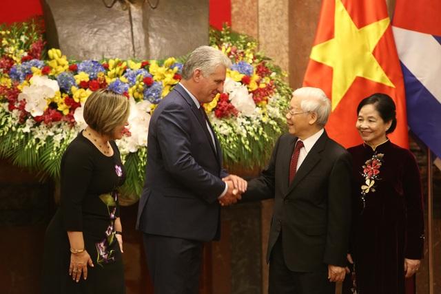 Tổng Bí thư, Chủ tịch nước Nguyễn Phú Trọng chủ trì lễ đón lãnh đạo Cuba - 6
