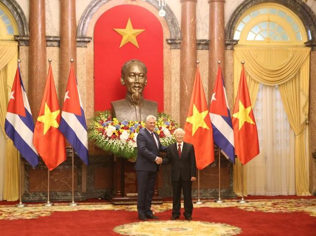 Tổng Bí thư, Chủ tịch nước Nguyễn Phú Trọng chủ trì lễ đón lãnh đạo Cuba - 4