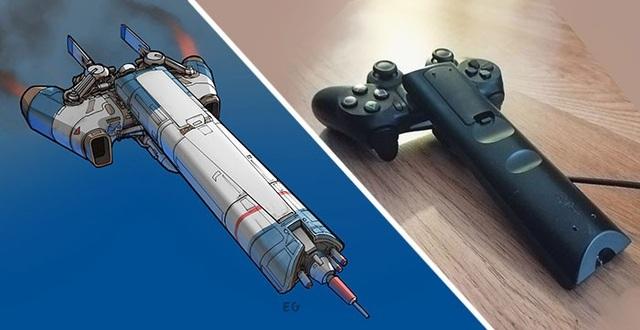 Ý tưởng phi thuyền độc đáo được xây dựng từ chiếc tay cầm PlayStation và điều khiển từ xa.