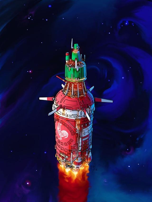Tàu vũ trụ được thiết kế theo phong cách một chai tương ớt.