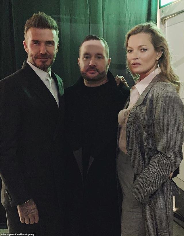 Kate Moss hội ngộ David Beckham trong sự kiện