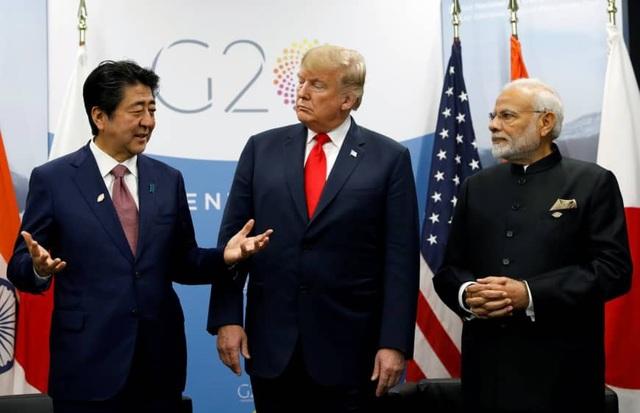 Lãnh đạo Mỹ, Nhật, Ấn gặp nhau bên lề G20 ngày 30/11 (Ảnh: Reuters)