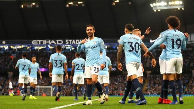 Man City đã có chiến thắng dễ dàng trước Bournemouth