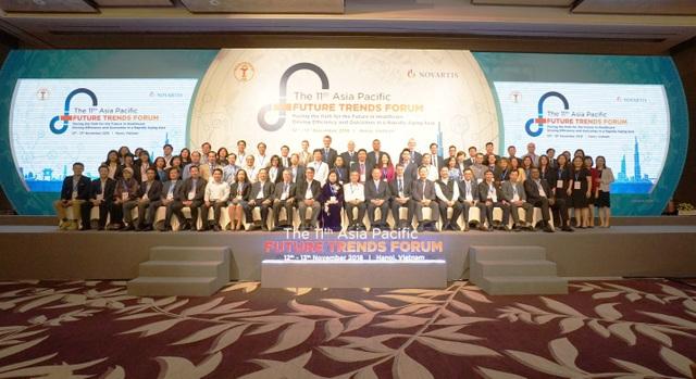 Tổng hội Y học Việt Nam đã phối hợp cùng tập đoàn Novartis, tổ chức Diễn đàn Khuynh hướng Tương lai 2018 (lần thứ 11) tại Hà Nội
