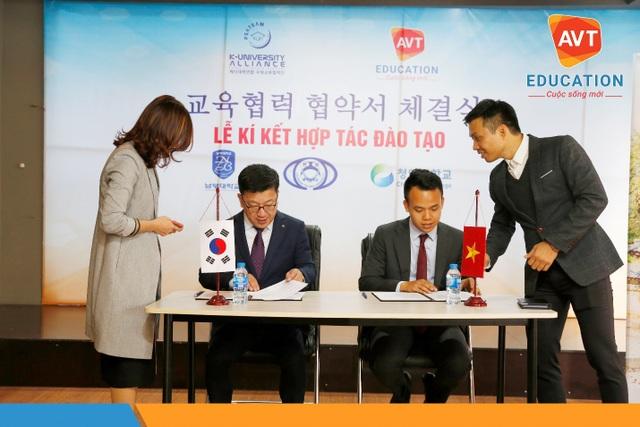 AVT Education vui mừng đón tiếp đại diện các trường Hàn Quốc về quan quan và kí kết hợp tác.