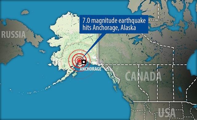 Hình ảnh tâm chấn động đất (Đồ họa: Dailymail)