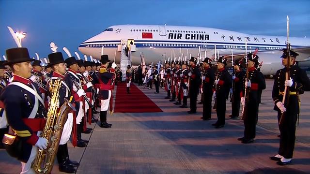 Argentina dành nghi thức long trọng tiếp đón Chủ tịch Trung Quốc Tập Cận Bình. (Ảnh: RT)