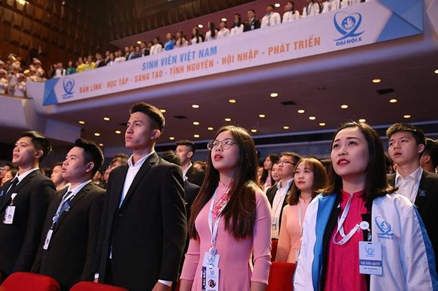 Các đại biểu tham dự Đại hội toàn quốc Hội Sinh viên Việt Nam khoá 10