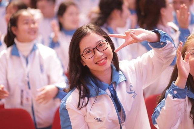 Đại biểu Vũ Thanh Tâm - Đại học Hà Tĩnh khoe nụ cười rạng rỡ