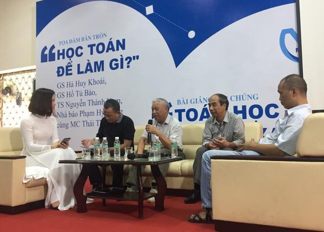 Giáo sư Hà Huy Khoái, nguyên Viện trưởng Viện Toán học Việt Nam chia sẻ ý kiến