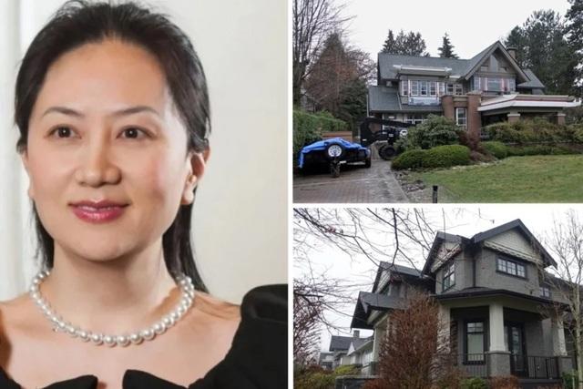 Hai căn biệt thự trị giá nhiều triệu USD của gia đình bà Mạnh ở Vancouver (Ảnh: SCMP)