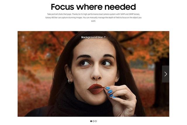 Hình ảnh được Samsung chi nhánh tại Malaysia sử dụng để quảng cáo cho chức năng chụp ảnh trên chiếc smartphone Galaxy A8 Star