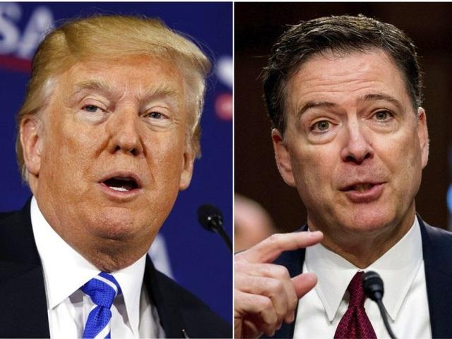 Tổng thống Mỹ Donald Trump (trái) và cựu giám đốc FBI James Comey (Ảnh: Getty)