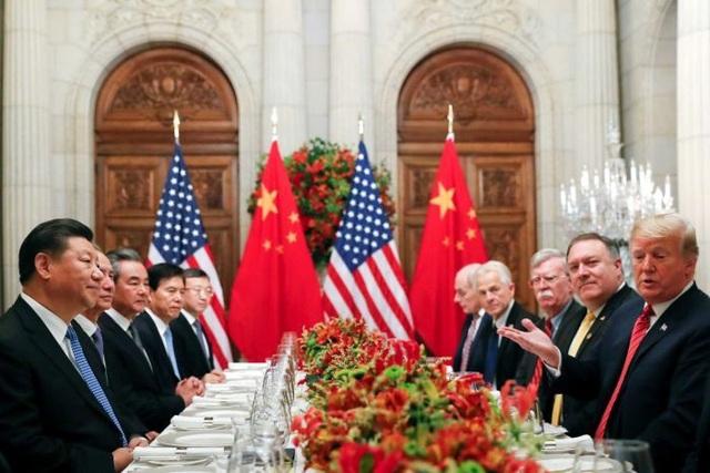Tổng thống Trump ăn tối và thỏa thuận đình chiến thương mại với phái đoàn Trung Quốc do Chủ tịch Trung Quốc dẫn đầu hôm 1/12 bên lề hội nghị G20, trùng thời điểm giám đốc Huawei bị bắt giữ ở Canada. (Ảnh: Reuters)