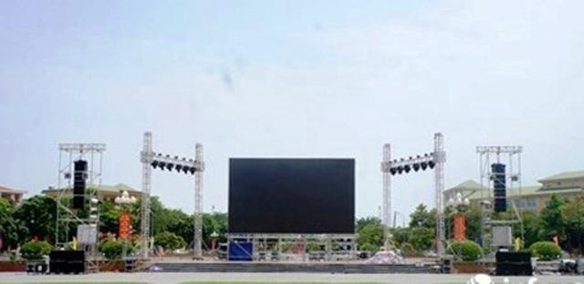 Màn hình Led 70m2 sẽ được lắp đặt tại Quảng trường Hồ Chí Minh để người hâm mộ xem và cổ vũ cho đội tuyển Quốc gia Việt Nam.