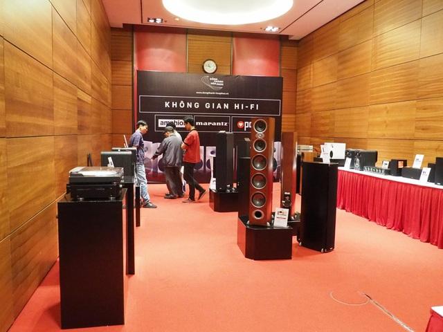 Khu trưng bày các sản phẩm của Amphion, Marantz, Polk của Nam Phú