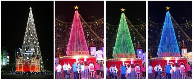 Vincom toàn quốc được thắp sáng lung linh với cây thông Noel khổng lồ