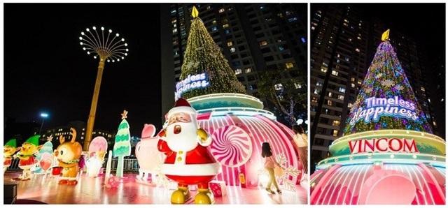 Thế giới kẹo ngọt đáng yêu với những chiếc bánh, kẹo xinh xắn khổng lồ và cây thông Noel độc đáo tạo hình từ cây kem khổng lồ úp ngược