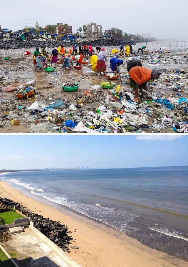 Người dân Ấn Độ cùng chung tay dọn sạch 5 tấn rác trên bãi biển và thành quả thật mỹ mãn!