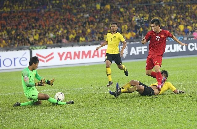 Các cầu thủ Việt Nam đã bỏ lỡ nhiều cơ hội ghi bàn ở Bukit Jalil