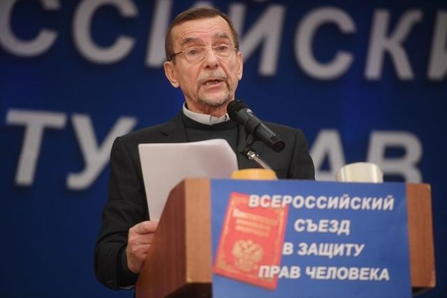 Nhà hoạt động nhân quyền Lev Ponomarev (Ảnh: Sputnik)
