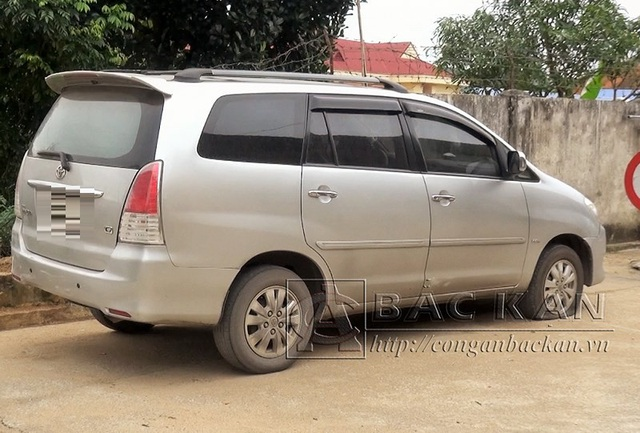 Chiếc ô tô được trình báo là bị mất trộm. Ảnh: Công an tỉnh Bắc Kạn