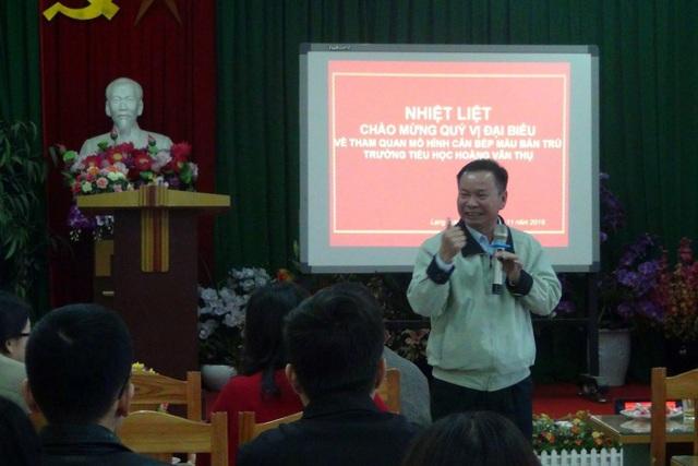 Ông Lê Xuân Trường- Đại diện Sở Giáo dục và Đào tỉnh Lạng Sơn chia sẻ về những đóng góp của Dự án đối với việc nâng cao chất lượng giáo dục.