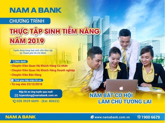 """""""Cơ hội nghề nghiệp tại Nam A Bank với chương trình thực tập sinh tiềm năng 2019"""""""