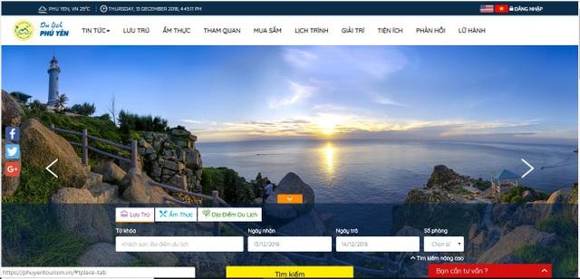 Trang chủ của Cổng thông tin du lịch thông minh