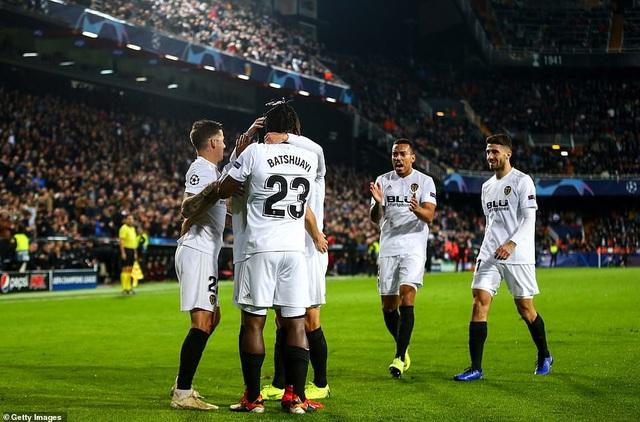 Valencia có chiến thắng đẹp để chia tay Champions League