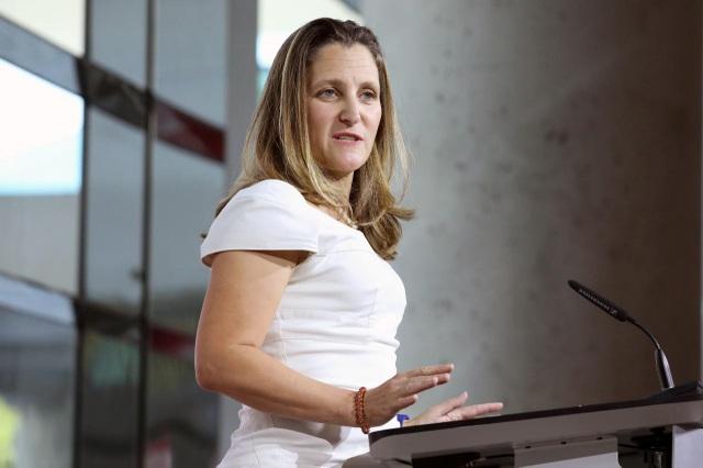 Ngoại trưởng Canada Chrystia Freeland (Ảnh: Reuters)