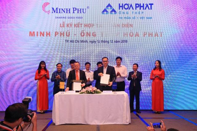 Hòa Phát sẽ cung cấp toàn bộ các sản phẩm liên quan đến ống thép cho Tập đoàn Thủy sản Minh Phú từ nay đến hết năm 2019.