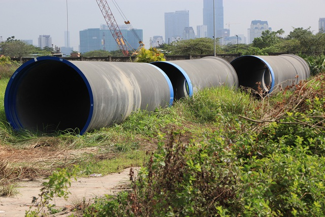 Toàn cảnh công trình nước sạch sông Đà số 2 đang thi công - 5