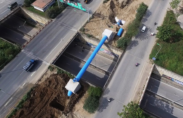Hiện nay một số hạng mục của dự án đường ống nước sông Đà giai đoạn 2 vẫn đang được triển khai.