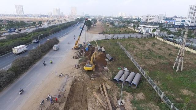 Toàn cảnh công trình nước sạch sông Đà số 2 đang thi công - 2