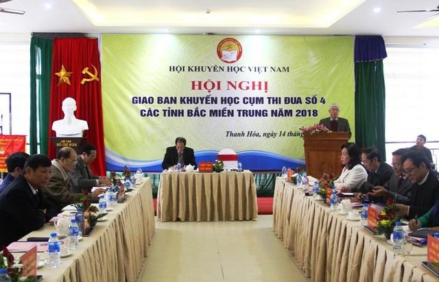 Hội nghị giao ban khuyến học Cụm thi đua số 4 các tỉnh Bắc miền Trung năm 2018.
