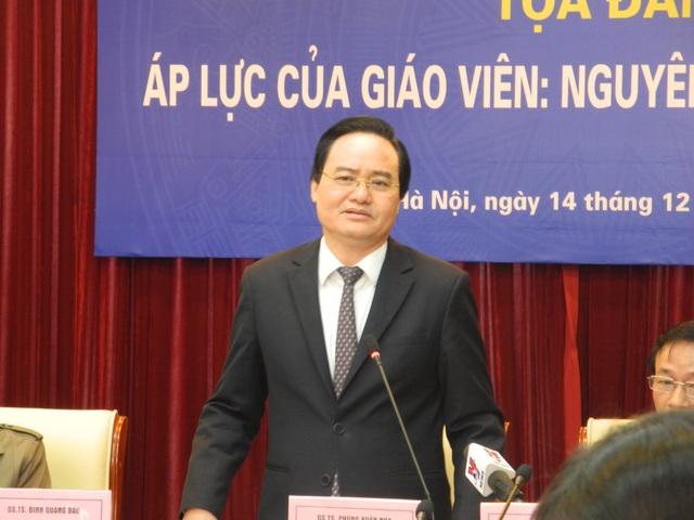 Bộ trưởng Phùng Xuân Nhạ: Khó giàu từ nghề giáo nhưng thu nhập phải đảm bảo - Ảnh 1.