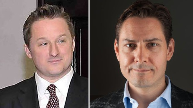 Hai công dân Canada bị Trung Quốc bắt giữ. (Ảnh: AFP)